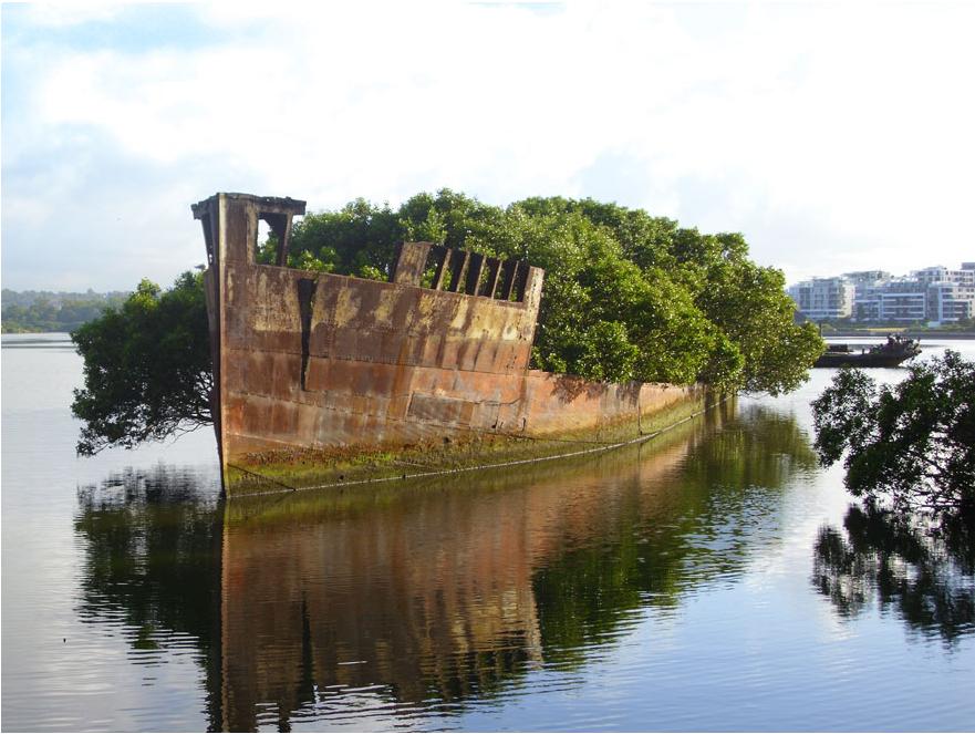 100-летний корабль в Сиднее, Австралия.
