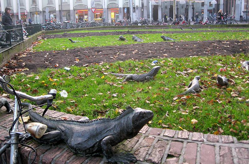 Парк игуан. Амстердам, Нидерланды.