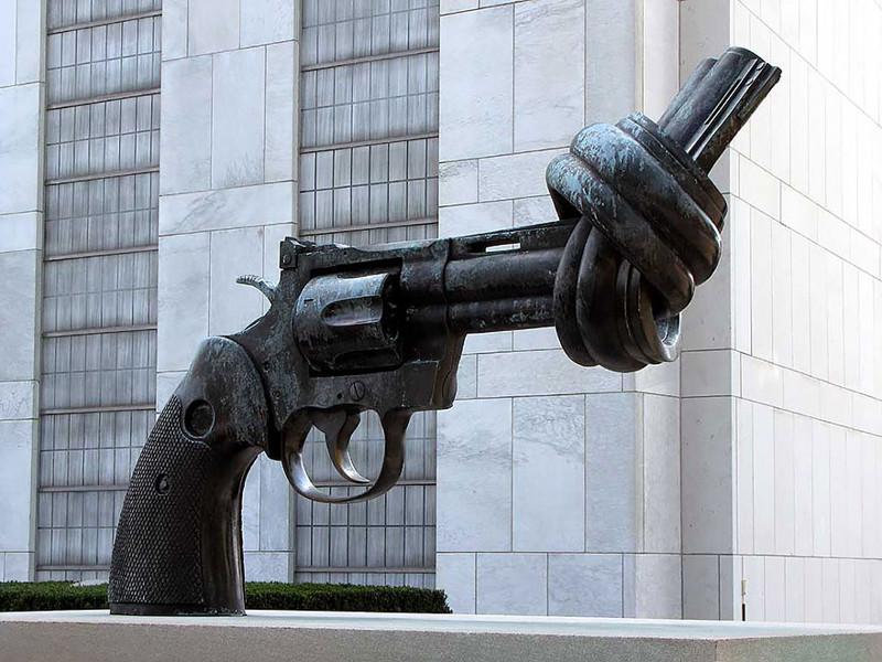 Пистолет с завязанным дулом. Тертл-Бей, Нью-Йорк, США.