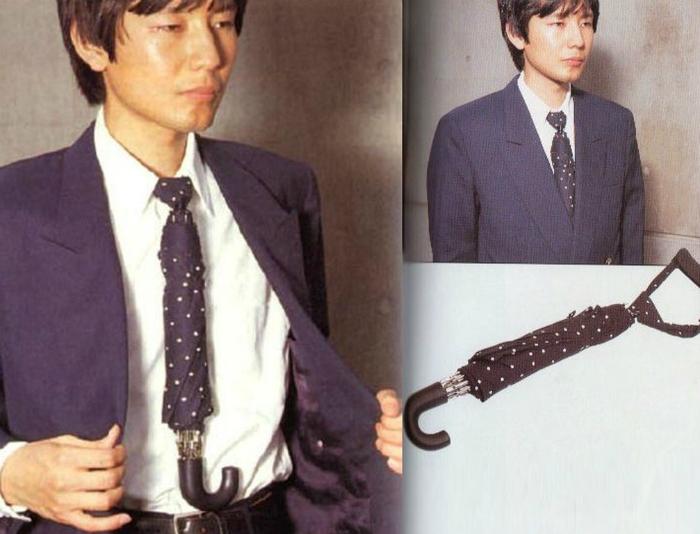 Универсальный галстук-зонт