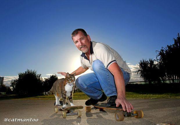 Диджа — уникальная кошка-скейтбордист рис 2