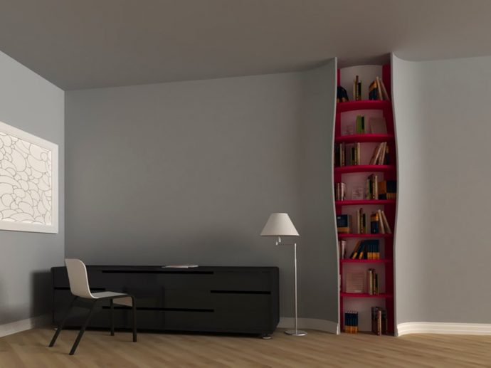 10 идей креативных книжных полок для вашей библиотеки рис 13