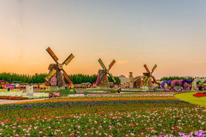 Мельницы в чудо-саду в Дубае, ОАЭ