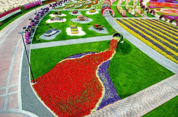 Парк цветов в Дубае, ОАЭ