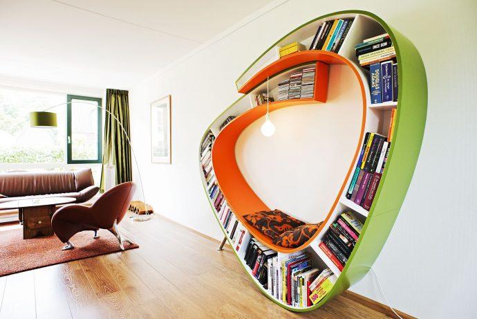 10 идей креативных книжных полок для вашей библиотеки рис 15