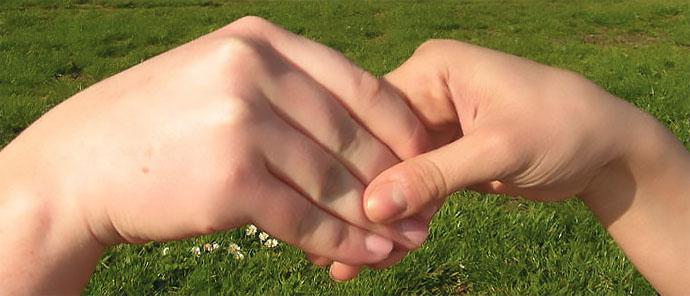 """рукопожатие """"лапша"""""""