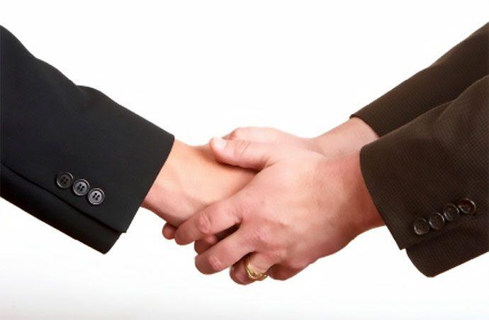 """рукопожатие """"перчатка"""""""