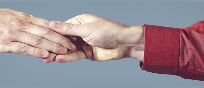"""рукопожатие """"удерживающее"""""""
