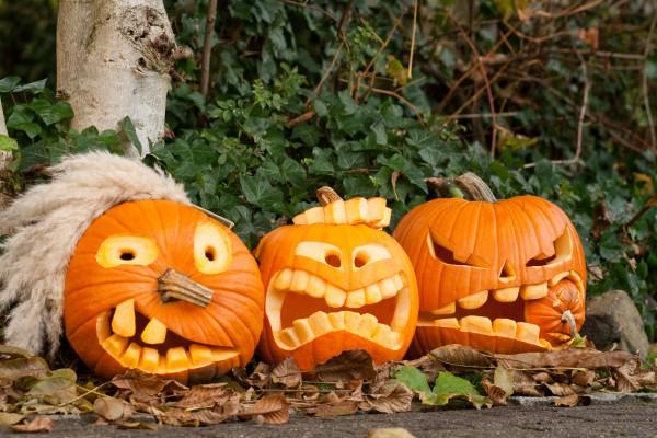 карвинг по тыкве на Хэллоуин