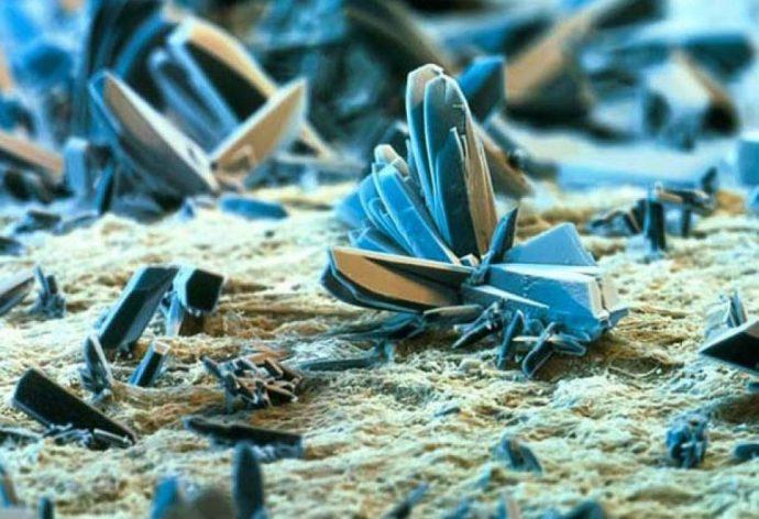 Папиросная бумага под микроскопом