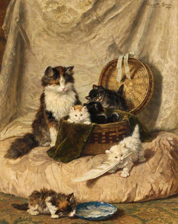 картины котов рис 2