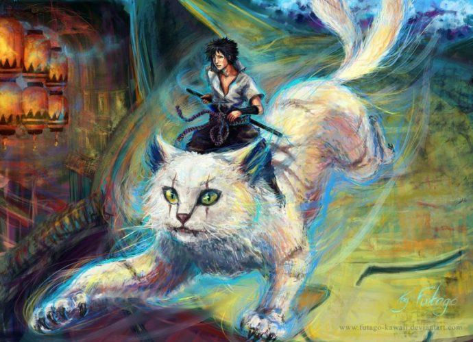 японский кот рис 3