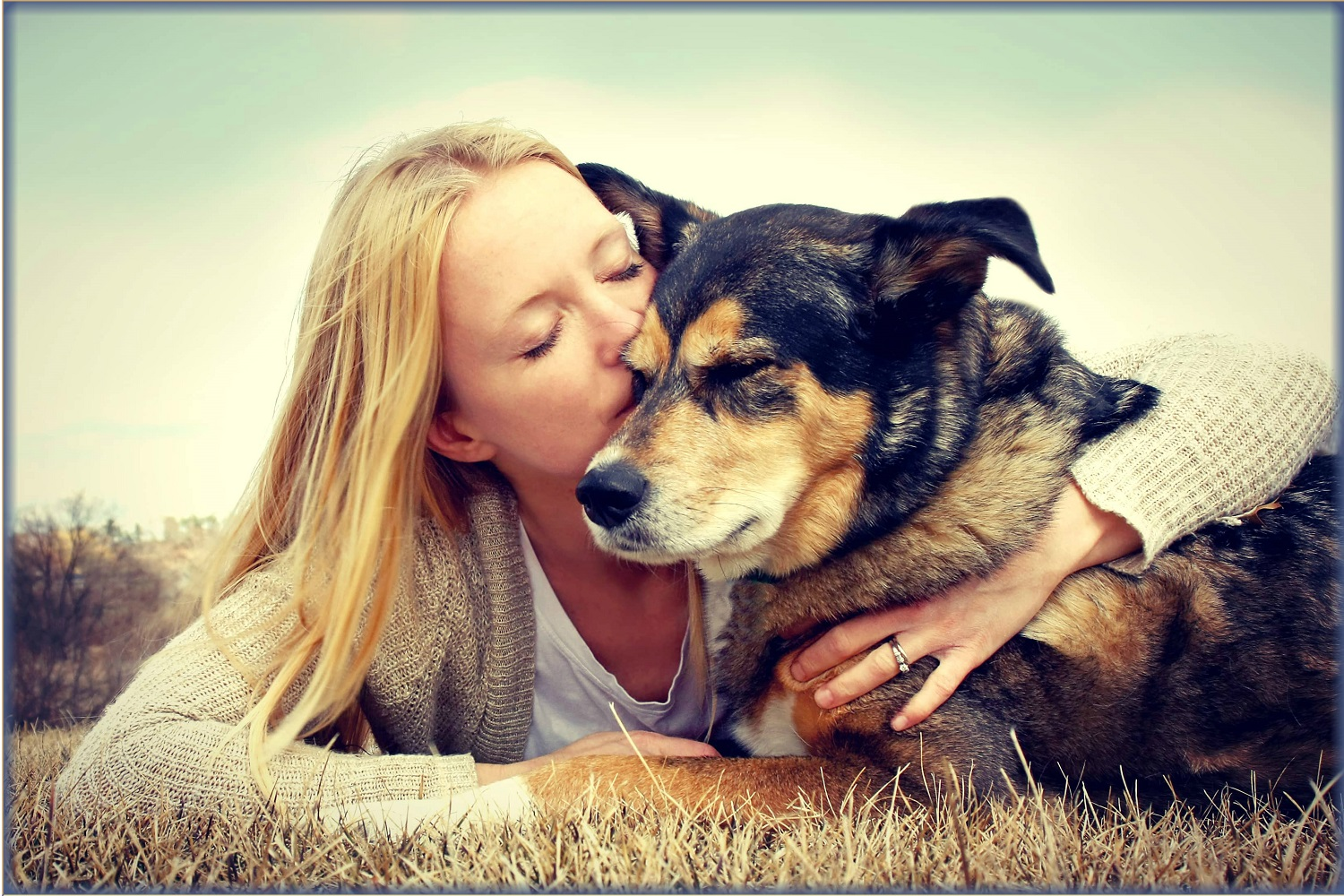 blonde-woman-with-dog-Allivet-Trusted-Pet-Pharmacy