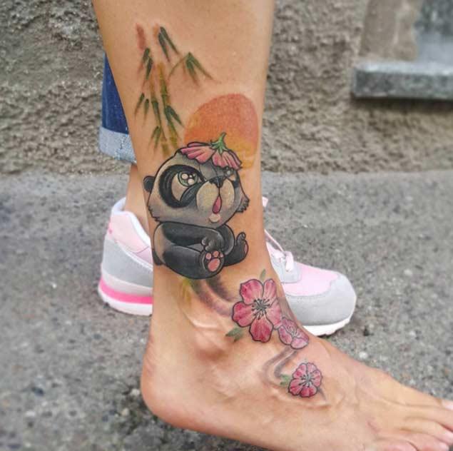 panda tattoos рис 8