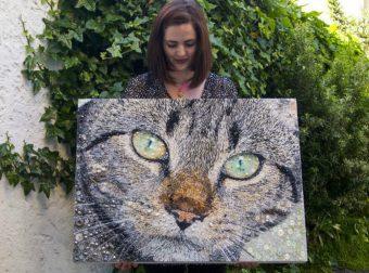 Чумовые коты из… бусин и пуговиц! От этой красоты не оторвать глаз!
