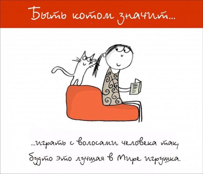 Так и живём! 19 иллюстраций, которые демонстрируют жизнь кота ) рис 4