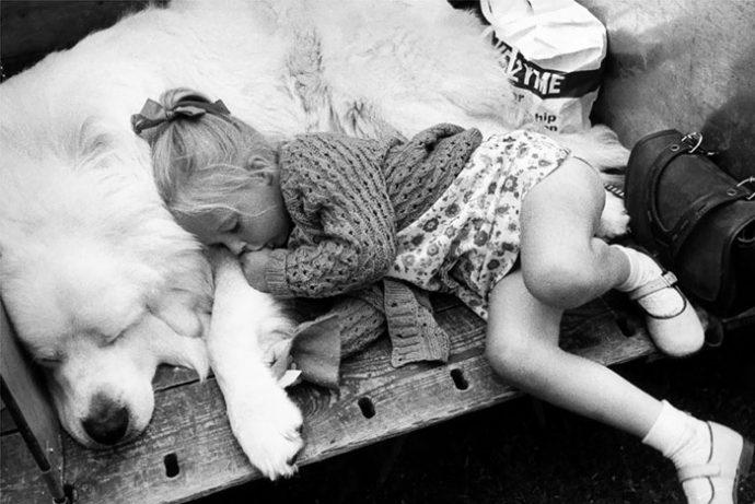 Живая подушка на страже сна! 10 самых умилительных фото спящих детей и их любимцев рис 10