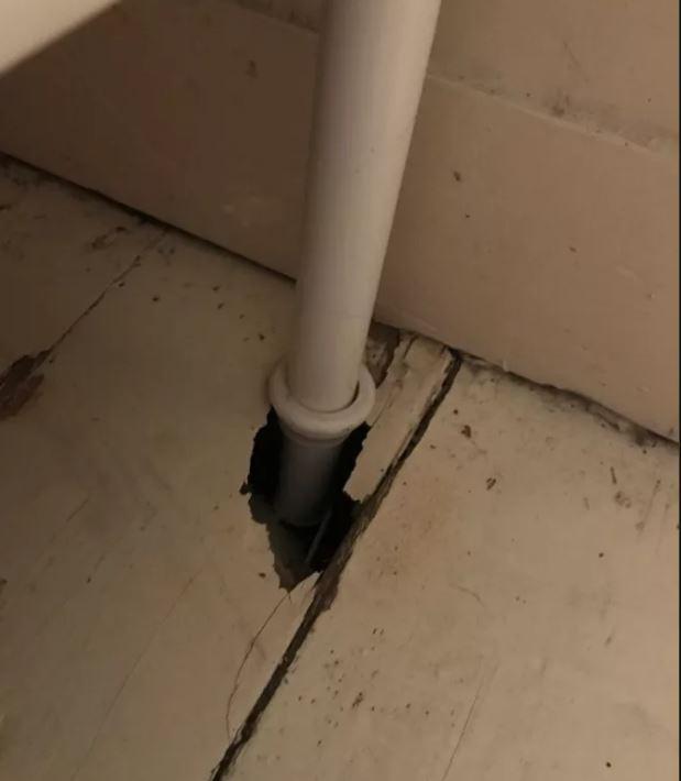 Во время дождя девушки услышали грохот в ванной... Там из дыры в потолке кто-то выглядывал!