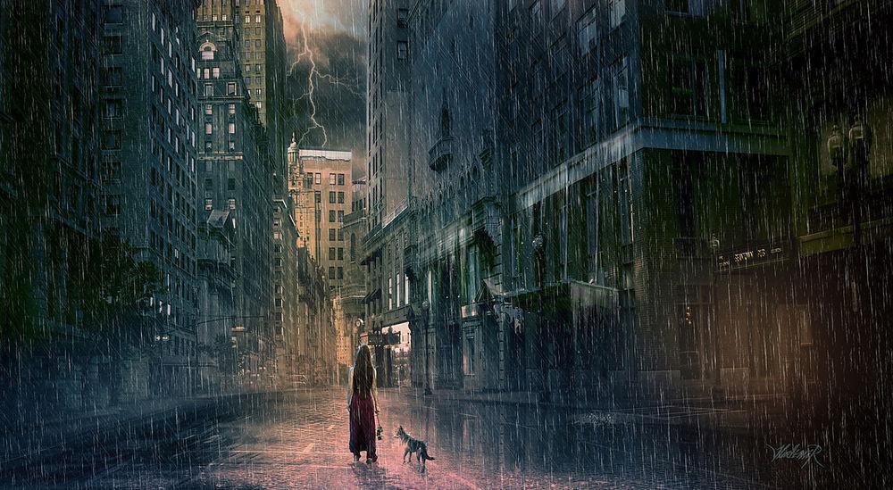 """""""А как же я?"""" Кутя стоял под дождём, шевелил хвостиком-прутиком и разрывал мне душу... рис 4"""