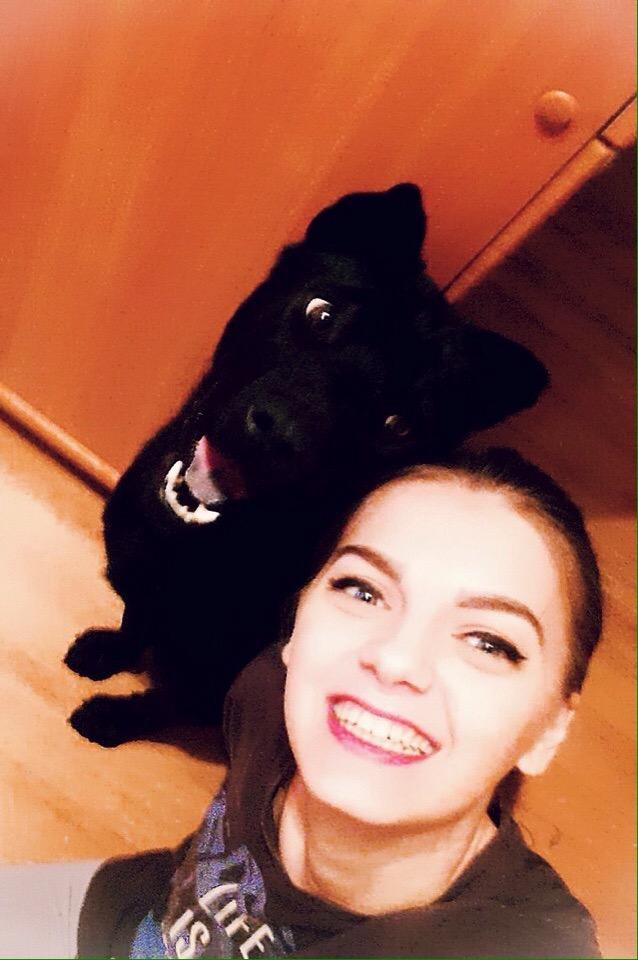 девушка и собака рис 4