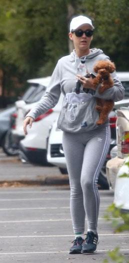 Кэти Перри и собака