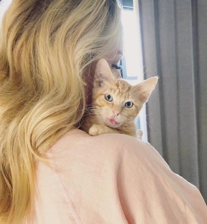 Котик и женщина