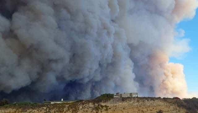 дым от пожара