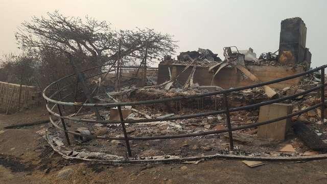 пепелище после пожара