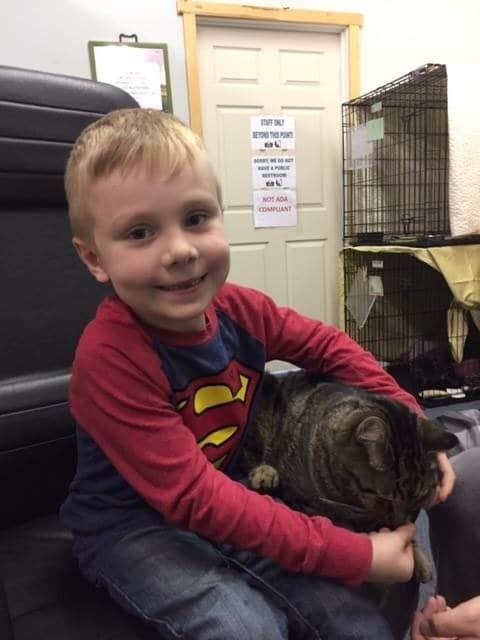 мальчик с котом рис 2