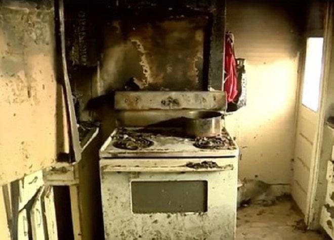 Обгоревшая кухня