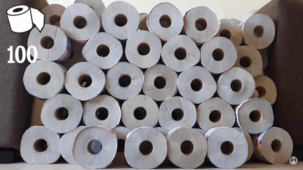 туалетная бумага в рулонах