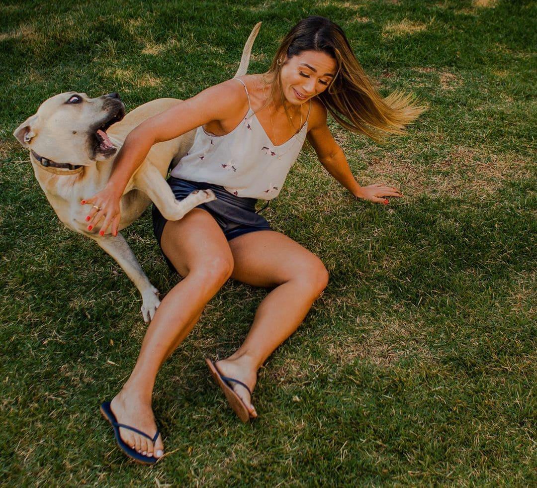хозяйка с собакой