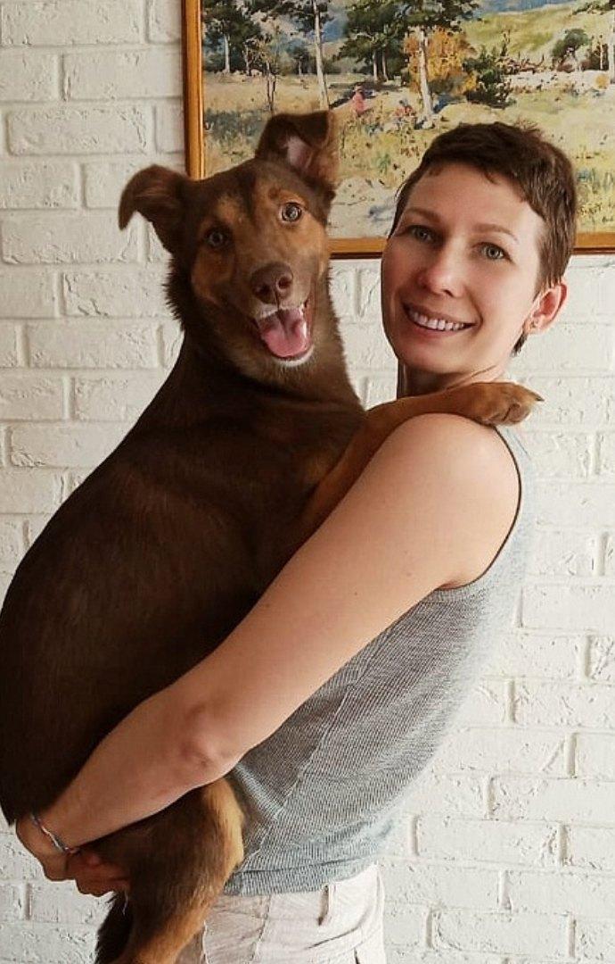 пес с хозяйкой