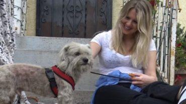 Loreta and dog