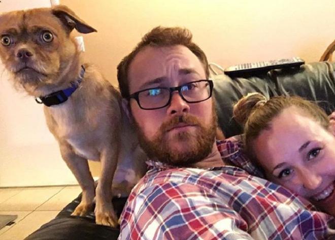 Семья и пес