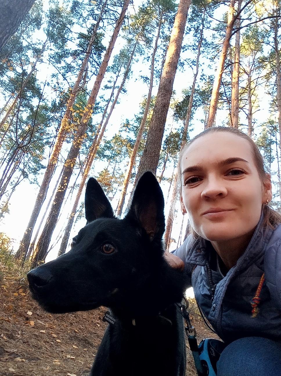 щенок с хозяйкой