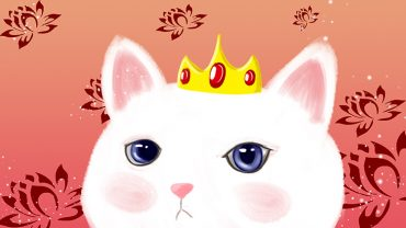 cute white cat ad background_940614