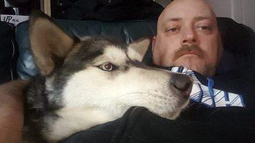 Simon and dog