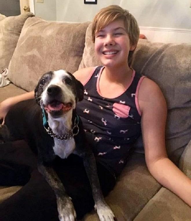 Собака с женщиной